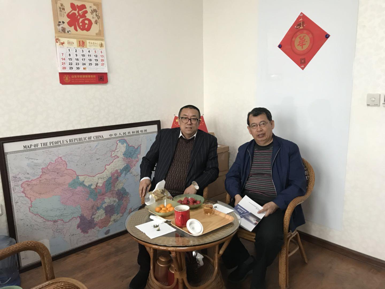 青岛保险行业协会曹光福主任莅临华政所指导交流