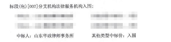 华政所成功中标青岛农村商业银行股份有限公司法律服务机构项目